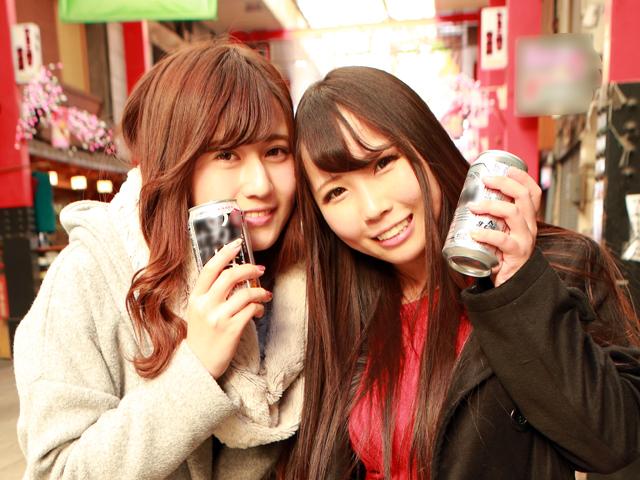 センベロ街で呑んでいる酒好き女たちをナンパ即ハメ