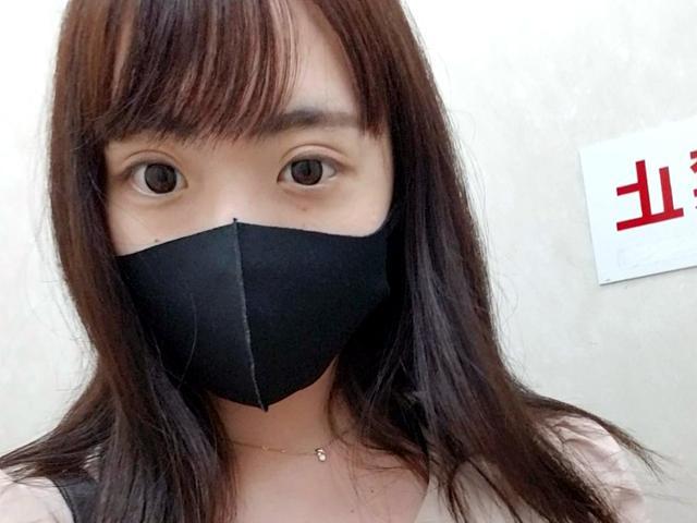 マスク着用を条件に撮影を了承してくれた普通の女子大生 めいちゃん 20歳